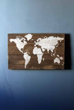 For the traveler in your life, a constant reminder of all the places you have been and all the places yet to frequent. This unique item is 100% made from reclaimed barnwood. The wood is reclaimed from