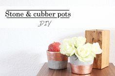 Une touche de rose: blog mode, DIY, cuisine, beauté: Stone & Cubber pots :: DIY