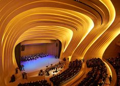 Zaha Hadid's Heydar Aliyev Centre rises from the landscape in Baku