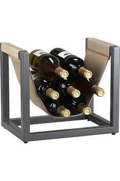 Crate & Barrel Stockton Wine Rack, $99.95  14 Unique Wedding Gifts That'll Earn You Major Brownie Points #refinery29  http://www.refinery29.com/50746#slide2