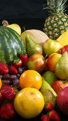Download Wallpaper 720x1280 Pineapple, Watermelon, Apples, Fruit Samsung Galaxy S3 HD Background