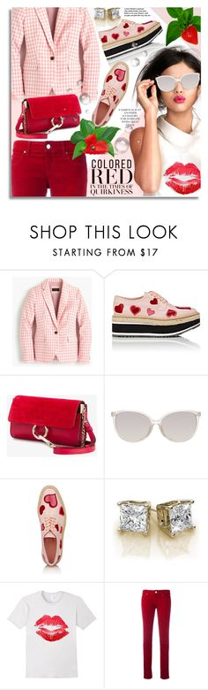 """""""Delicious Fashion Statement"""" by petri5 ❤ liked on Polyvore featuring J.Crew, Prada, Chloé, Linda Farrow and Armani Jeans"""