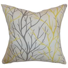 Fderik Trees Down Filled Throw Pillow Canary - Overstock Shopping - Great Deals on PILLOW COLLECTION INC Throw Pillows