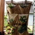 hanging burlap planter