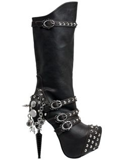 Valda Knee High Boot by Hades (Dark Brown)