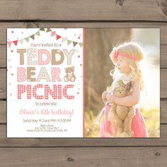 Teddy Bear Picnic Invitation Teddy Bear's Birthday