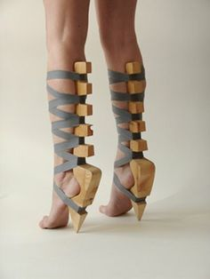 Soleless sandals: I would not wear these but they look interesting. And dangerous
