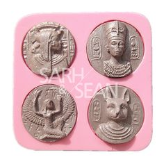 M0955 The Decorations of Ancient Egyptian Pharaoh Coppers Fondant Cake Molds Chocolate Molds for the Kitchen Baking Tools