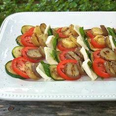 Grilled Potato Zucchini Caprese
