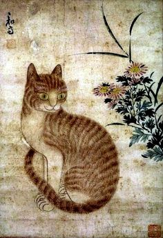 Korean folk painting: Cat
