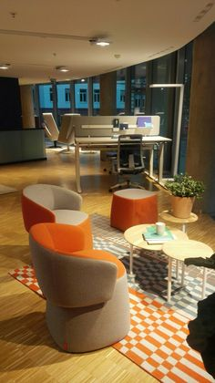 New haworth showroom Frankfurt Chairs by Patricia Urquiola