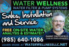 SPECIAL! $100 off installed whole-house filter system! Just mention code: WEB100