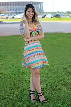 Look do Dia: Vestido Mix de Estampas – Larissa Ruston | Blog de Moda, Beleza…