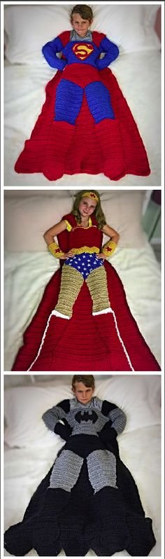 Batman, Superman, and Wonder Woman Crochet Patterns.