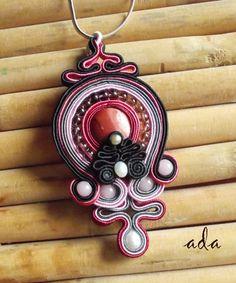 Handmade soutache jewelry by Ada - pendant - Fashionweare.com