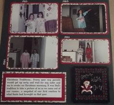 Vintage Christmas Morning Page 2 Layout - Scrapbook.com