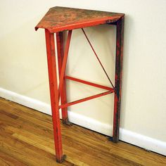 Industrial Triangle Side Table, $385, now featured on Fab.