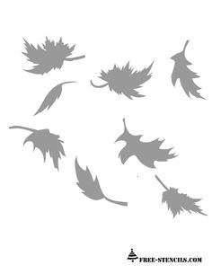 free-printable-autumn-leaves-stencils.png (612×792)