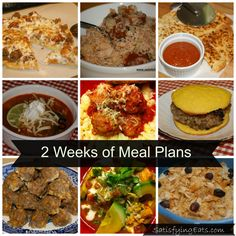 2 weeks of low carb meal plans plus one week of slow cooker & other meals