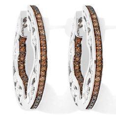 Victoria Wieck Sterling Brown Diamond Filigree Hoop Earrings #VictoriaWieck #Hoop