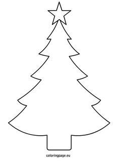christmas tree black and white christmas tree clipart black and white blank clipartfest - Simple Christmas