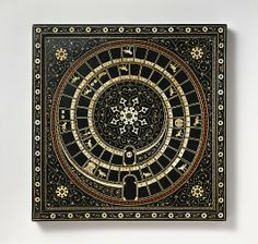 Chess and goose game board, 16th century. Northern Italian. Ebony, ebonized wood, ivory, green-dyed ivory, horn, gold wire.