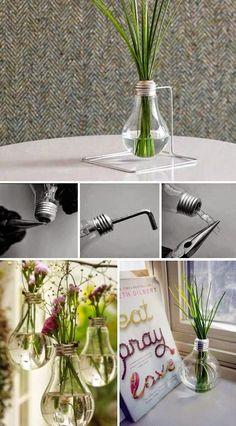 DIY Light Bulb Vase Pictures