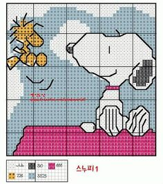 Woodstock and Snoopy Cross Stitch Counted Cross Stitch Patterns, Cross Stitch Charts, Cross Stitch Designs, Cross Stitch Embroidery, Stitch Character, Stitch Cartoon, Cross Stitch For Kids, Disney Stitch, Plastic Canvas Patterns