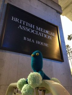 Penicillin at British Medical Association house #microbes  http://www.glasgowcityofscience.com/get-involved/knitting-microbes