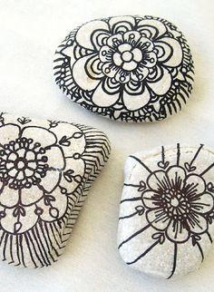 Crafting idea for school  Marker Doodled Sea Rocks