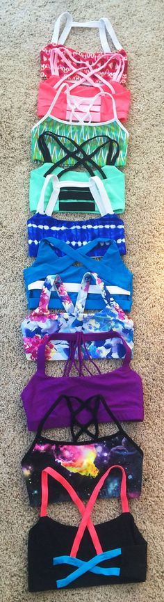 So many cute sports bras, I want them all!! My new go-to site for active wear!