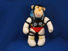 New product 'Unknown Brand XL Plush Astronaut Monkey in Vinyl Space Suit' added to Dirty Butter Plush Animal Shoppe! - $60.00 - Unknown Brand XL Plush 17 inch Astronaut Soft Body Monkey - Black Stuffed Head - Cream Ears, Face - Cute Plastic Eyes - …