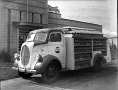 Ford COE 1938-drink truck!  I like this box style.