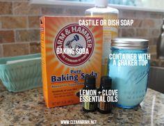 Lemon & Clove Nightly Sink Scrub Ingredients via Clean Mama