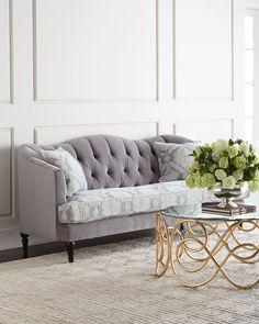 weißes gestepptes ledersofa | home | pinterest | home design, Wohnzimmer dekoo