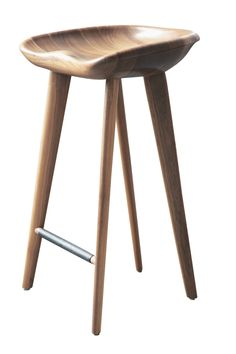 Tractor Stools  Contemporary, Transitional, Leather, Wood, Stools, Ottomans  Pouf by Bassam Fellows
