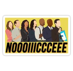"""Brooklyn Nine-Nine Noice"" Stickers by Nicole DiCenso Fandoms, Series Movies, Tv Series, Brooklyn Nine Nine Funny, Charles Boyle, A Series Of Unfortunate Events, Film Serie, Stickers, Memes"