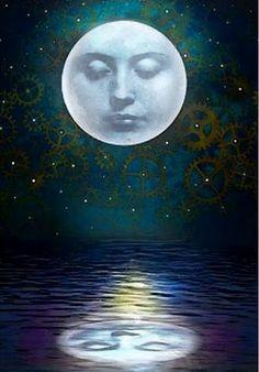 Illustration of midnight moon Sun Moon Stars, Good Night Moon, Moon Shadow, Moon Art, Moon, Moon Pictures, Moon Child, Art, Paper Moon