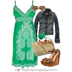oh, loving the green and the pattern - fun!