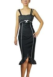 Plus Size Pinup Pencil Wiggle Dress Pin Up Clothing