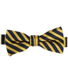 Tommy Hilfiger Boys' Repp Stripe Bowtie  - Yellow