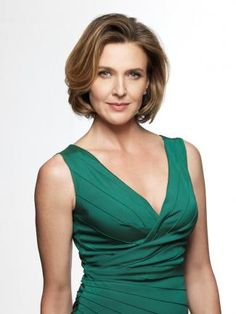 I love her bob.  can be styled so many different ways. Brenda Strong