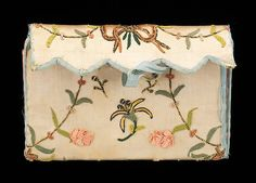 Purse Date: fourth quarter 18th century Culture: probably American Medium: silk, paper Accession Number: 2009.300.1748