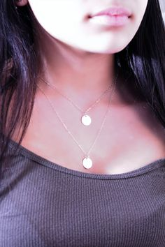 Layered Initial Necklace,925 sterling silver double chain, personalized,Monogram,letter A B C D E F G H I J K L M N O P R S T U V W Y Z