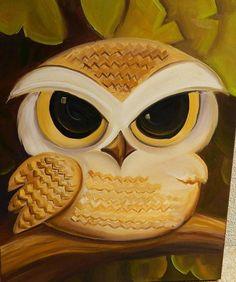 pintura em tela coruja - Pesquisa Google