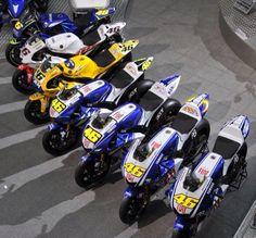 Valentino Rossi list of Yamahas.                                                                                                                                                                                 More