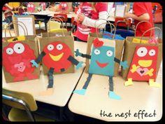 "Cute ""monster"" valentine bag idea"