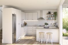 A kitchen designed with a country feel, with kaboodle kitchen you can make your dream kitchen a reality.
