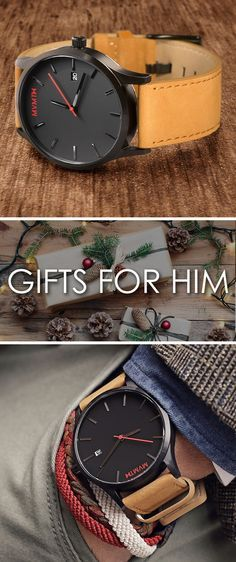 Get a gift for him this holiday season! Designed in Santa Monica, California, and inspired by the electric spirit of Los Angeles, MVMT Watches set out to design a classic minimalist watch for men with a modern twist. For an unbelievable price your search for the perfect accessory ends here. Compliments guaranteed.