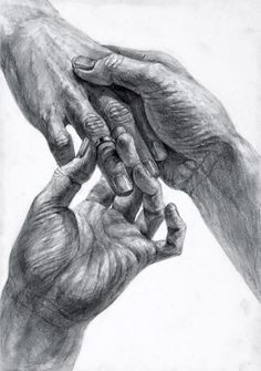 Drei Hände Ring anlegen Ring abstreifen Hände zeichnen
